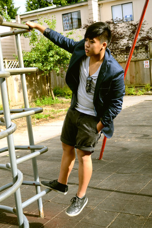 H&M blazer - dying Aldo shoes - H&M shirt - Esprit shorts