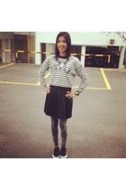 swear slogan lowrysfarm sweater - tie dye H&M leggings - H&M skirt