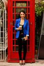 Blue-h-m-blazer-black-pacsun-jeans-black-urban-outfitters-top