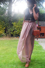 Satchel-vintage-bag-tan-asos-wedges-diy-skirt-qi-vest