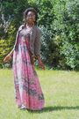 Pink-boohoocom-dress-black-ebay-shoes-brown-french-market-sunglasses-gold-