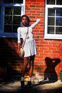 White-topshop-dress-black-ebay-shoes-beige-next-socks-gold-topshop-and-aso