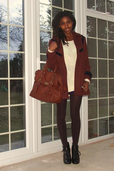 Black Wedges H&M Shoes, Dark Brown Brown Coat Topshop Coats, Tawny ...