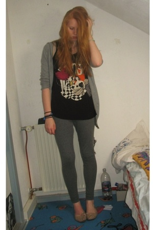 H&M blouse - Debbie shoes - H&M leggings - H&M top - asoscom necklace - Glitter