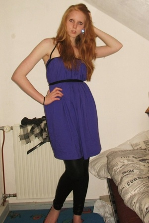American Apparel dress - H&M leggings - pieces shoes