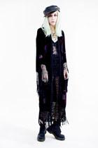 black crocheted Tunnel Vision dress - black Dr Martens boots