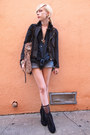 Black-lace-up-forever-21-boots-black-vintage-jacket-black-motorcycle-forever