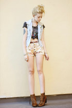 off white floral your eyes lie shorts - brown leopard print Dolce Vita boots