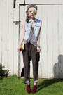 Crimson-jeffrey-campbell-shoes-light-blue-denim-vintage-vest-black-printed-v