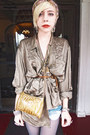 Army-green-poncho-dolce-vita-jacket-olive-green-silk-vintage-shirt-gold-sequ