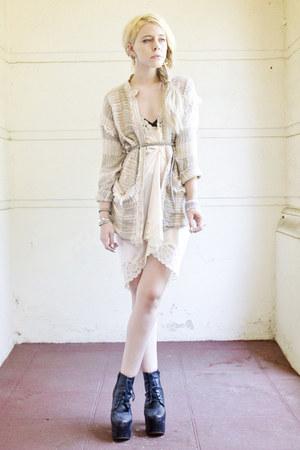 peach slip gypsy warrior dress