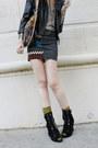 Tan-knit-turban-forever-21-hat-black-motorcycle-catherine-malandrino-jacket-