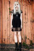black mesh Motel dress