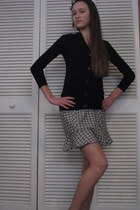 black button up Pinc Premium cardigan - black skirt