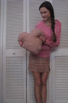 pink American Eagle sweater - pink ambercrombie skirt