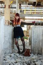 Diana Bobar dress - Zara shoes - thrifted gloves - Mango purse