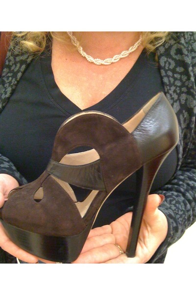 brown Fendi shoes