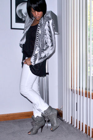H&M jacket - H&M top - 7 for all mankind jeans - ASH shoes