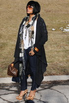 allsaints sweater - Forever21 jeans - LV bag - Tom Ford sunglasses