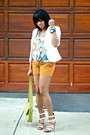 White-h-m-blazer-tawny-polka-dot-old-navy-shorts-sky-blue-print-dvf-blouse
