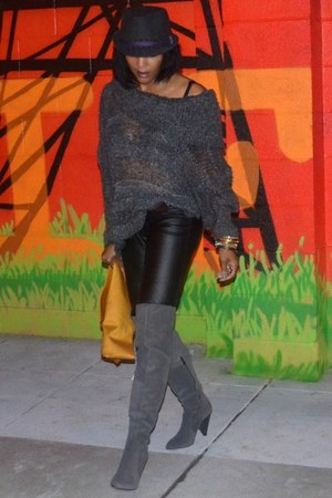 gray kensie sweater - charcoal gray Vince Camuto boots