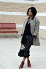 Off-white-print-zara-coat-black-faux-leather-silence-noise-pants