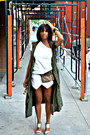 White-zara-shorts-army-green-cargo-who-what-weaer-vest-white-tart-top