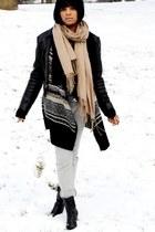 black What Goes Around Comes Around jacket - kensie cardigan - heather gray Amer