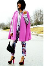 pink vintage cape - light purple stripe Joes Jeans shirt