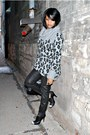 Black-nine-west-shoes-black-hudson-jeans-charcoal-gray-dkny-jeans-sweater