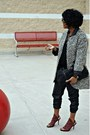 Off-white-print-zara-coat-black-faux-leather-silence-noise-pants