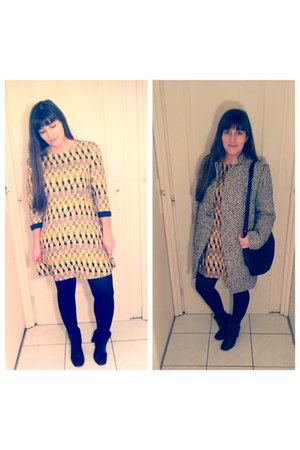 Sheinside dress - Sheinside coat
