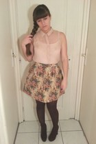 new look skirt - new look blouse