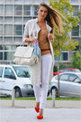 Ivory-trench-h-m-coat-red-office-shoes-beige-stradivarius-top