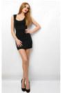 Black-american-apparel-dress-black-fornarina-shoes