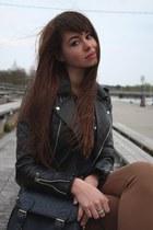 black biker vintage jacket