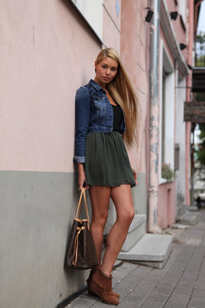 army green American Apparel skirt
