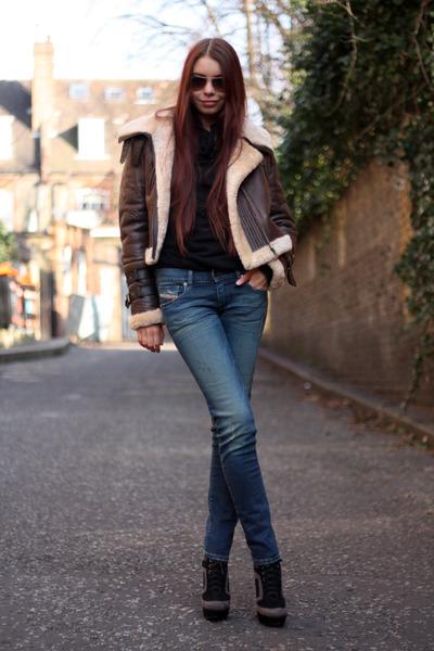 navy Diesel jeans