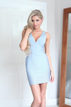 light blue herve leger dress