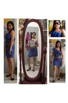 1 shoulder mini Paris dress - rusy lopez heels