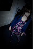 Miss Selfridges blazer - Miss Selfridges tights - Zara dress