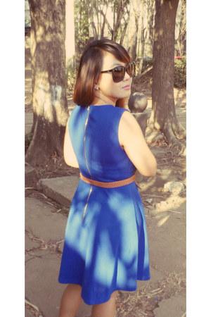 blue rosewholesalecom dress - black rosewholesalecom bag