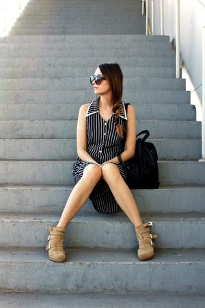 Zara boots - Josef Ribkoff dress