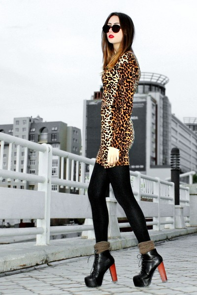 camel leopard print Lulus dress