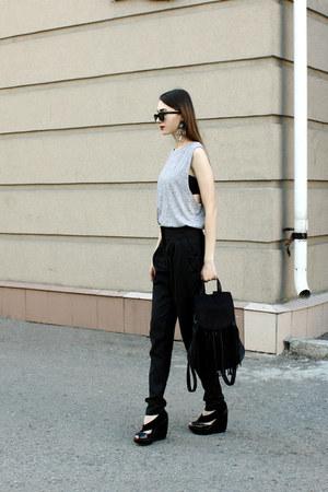Ray Ban sunglasses - asos top - H&M vest