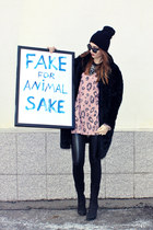 faux fur lindex coat - with pu inserts material girl leggings