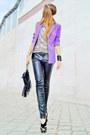 Beige-leopard-bershka-top-light-purple-blazer