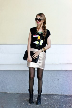asos boots - sequined dress - asos sunglasses - Ladakh top