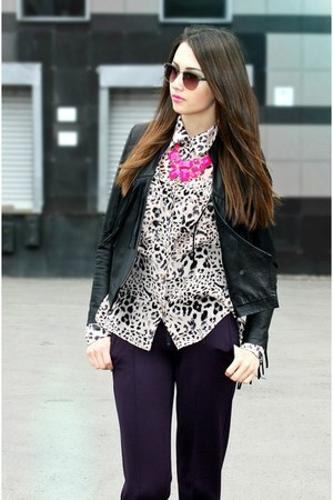 printed Ann Christine shirt - asos sunglasses