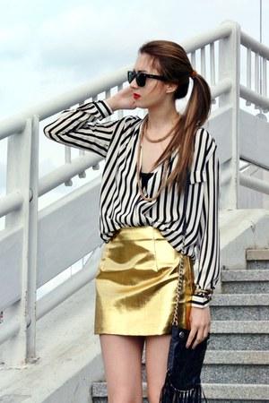 2am Styles skirt - asos top - Forever 21 wedges